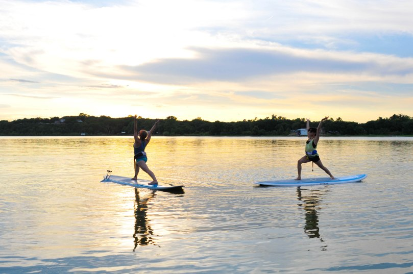 SUP Yoga on Lake Worth