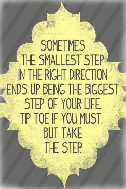 The first step in the right direction